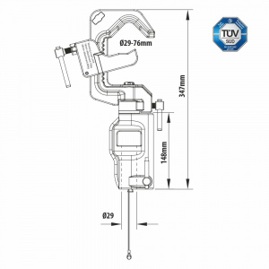 KCP-150 Swiveling Pipe C Clamp