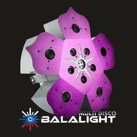 BALALIGHT LED+LASER BIG FLOWER crimson